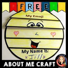 Your students will be smiling when they create this exciting back to school emoji craft. This is an easy to make flip book that combines art and writing to encourage getting to know each other, positive self-esteem, and social interaction. A template is provided for