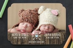 Heart & Arrow Birth Announcements by Chasity Smith at minted.com