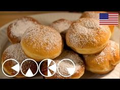 Berliner Recipe Doughnut Lovers Delight Video Tutorial - This Berliner Recipe is perfect for Doughnut Lovers and it is a delicious delight you will love to - Homemade Jelly Donuts Recipe, Easy Donut Recipe, Donut Recipes, Pastry Recipes, Sweets Recipes, Easy Desserts, Baking Recipes, Churros, Recipe For 10