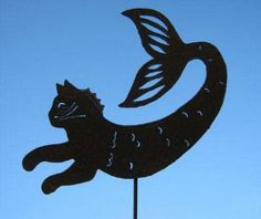 Purrmaid Tail Up Yard Art by Rustiques Garden Art by RustiquesGardenArt on Etsy https://www.etsy.com/listing/63797076/purrmaid-tail-up-yard-art-by-rustiques