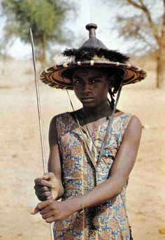 Africa | A young Wodaabe.  Niger || Scanned postcard