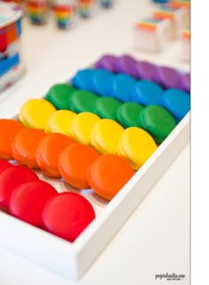 Rainbow Macaroons
