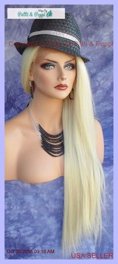 LONG STRAIGHT HEAT SAFE LACE FRONT WIG 613 *STUNNING ALLURING USA SELLER 159 #sepia