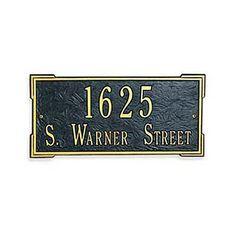Roanoke Lawn Address Plaque - WHITE/BLACK LETTERS - Improvements by Improvements. $199.99