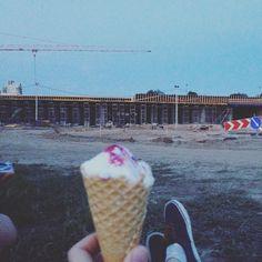 visada labai smagu valgyti ledus romantiškoje aplinkoje