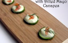 Lox with dilled mayo canapes - easy - Mytaste.com