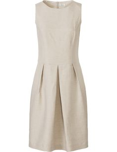 SEY-Studio jurk linnen menging zandkleurig