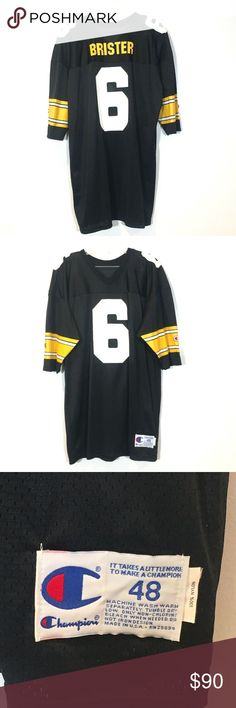 a0fecd3b86f [Champion Bubby Brister Pittsburgh Steelers Jersey Very rare! Vintage Bubby  Brister Pittsburgh Steelers #