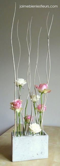 roses et bois flotté