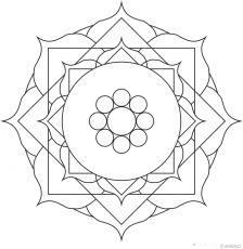 Free mandalas coloring > Flower Mandalas > Flower Mandala Design 8