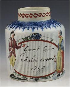 Wonderful 18th C English Tea Caddy w/ Ribbed Body