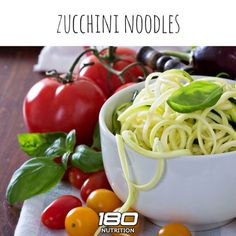 Looking for a quick lunch on the go? Try making these amazing zoodles (zucchini noodles) with pesto, pumpkin & chicken. Find the recipe here: http://180nutrition.com.au/2014/04/08/wheat-free-zucchini-pasta/