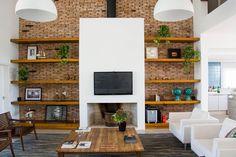 Fireplace Detail - ESTUDIO 30 51 have designed Casa Ventura M22, a residence for a family in Rio Grande do Sul, Brazil