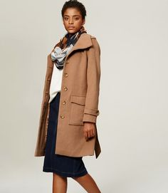 Nice big pockets on this warm coat – Brushed Wool Belted Coat from the LOFT