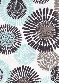 Tonic Living,Cote D Azure, Sea,100% Combed Cotton, Retro fabric