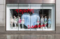 Topshop Summer windows by CRM visual merchandising