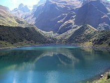 Perú - Lago Uspaccocha ubicado en el santuario nacional de Ampay