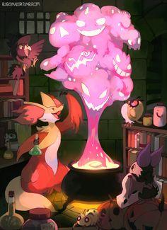 Artwork from the Pokemon universe. Old Pokemon, Ghost Pokemon, Mega Pokemon, Pokemon Fan Art, Pokemon Fusion, Cute Pokemon, Pokemon Stuff, Pokemon Images, Pokemon Pictures