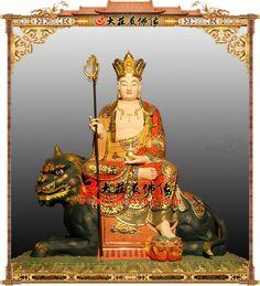 大願地藏王菩薩銅雕彩繪佛像