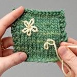 Embroidery on knitting Masterclass series with Emma King. Part 6, Lazy daisy stitch