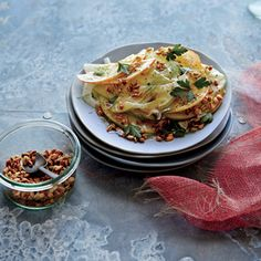 Shaved Apple and Fennel Salad with Crunchy Spelt | MyRecipes.com