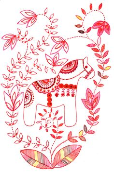 Discover recipes, home ideas, style inspiration and other ideas to try. Creative Embroidery, Learn Embroidery, Hand Embroidery Designs, Embroidery Applique, Beaded Embroidery, Embroidery Patterns, Scandinavian Embroidery, Scandinavian Folk Art, Scandinavian Christmas