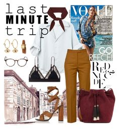 """""""last minute trip"""" by kaitsmithk ❤ liked on Polyvore featuring LoveStories, MSGM, Gucci, Loeffler Randall, Chloé, Cutler and Gross and IaM by Ileana Makri"""