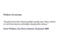 Wilders wil racisme   #watwilwilders