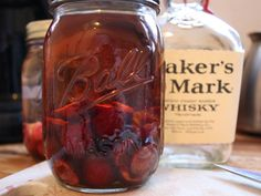 Homemade Cherry Infused Bourbon (and vodka)