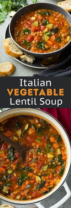 Italian Vegetable Lentil Soup – Cooking Classy Italian Vegetable Lentil Soup – Cooking Classy Related posts: This Italian Lentil and Vegetable Soup tastes similar to a minestrone soup, but … Mexican Vegetable Soup Italian Lentil Soup Recipe, Italian Vegetable Soup, Italian Soup Recipes, Lentil Vegetable Soup, Vegetable Soup Healthy, Italian Vegetables, Lentil Soup Recipes, Lentil Stew, Vegetable Soup Recipes
