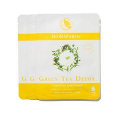 BioRepublic Skincare Green Tea Detox Purifying Fiber Mask Set, $14.50 #birchbox