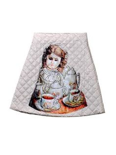 Quilted Skater Skirt In Doll Pattern