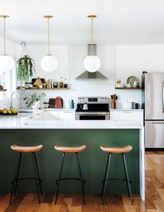 How to Renovate a Home on a Budget To renovate a fixer-upper on a budget, a couple rolled up their sleeves and hit the Internet. Here's what they learned Budget Kitchen Remodel, Living Room Remodel, Kitchen On A Budget, Kitchen Living, Diy Kitchen, Kitchen Decor, Kitchen Ideas, Kitchen Cabinets, Kitchen Layout