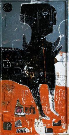"Saatchi Art Artist Rusudan Khizanishvili; Painting, ""Envoy"" #art"