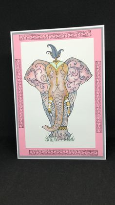 Lavinia Stamps, Image Stamp, Girly Girls, Ink Stamps, Animal Cards, Teenagers, Painting Inspiration, Elephants, Card Ideas