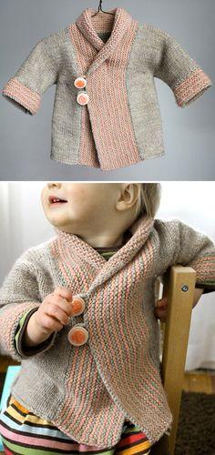 Shawl Collar Baby Coat – Knitting Pattern – Knitting Patterns For Kids Knitting For Kids, Baby Knitting Patterns, Loom Knitting, Knitting Needles, Baby Patterns, Free Knitting, Knitting Projects, Knitting Stitches, Crochet Patterns