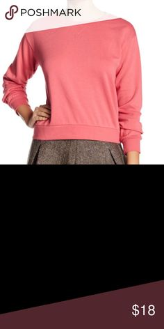 """Abound Boxy Fleece Crew Sweatshirt Details A boxy crop sweatshirt with an ultra-cozy fleece lining looks on-trend tossed over your favorite pair of high-waisted bottoms. - Crew neck - Long sleeves with banded cuffs - Slips on over head - Knit construction - Tonal topstitched bib - Banded hem - Fleece lining - Approx. 22"""" length  - Machine wash cold Fiber Content 60% cotton, 40% polyester Abound Tops Sweatshirts & Hoodies"""