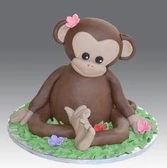 Monkey Cake by Gellyscakes, via Flickr