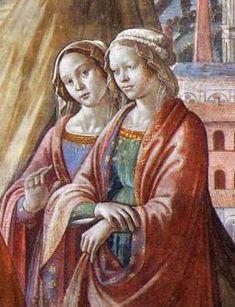 The daughters of Lorenzo di Medici Maddalena (right) and Contessina