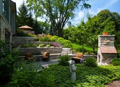 A terraced yard gives you more space in a small yard. Plant bigger gardens by planting up