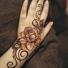 50 Most Attractive Rose Mehndi designs to try - Wedandbeyond Henna Flower Designs, Beginner Henna Designs, Modern Mehndi Designs, Mehndi Design Photos, Beautiful Henna Designs, Mehndi Designs For Fingers, Dulhan Mehndi Designs, Latest Mehndi Designs, Henna Tattoo Designs