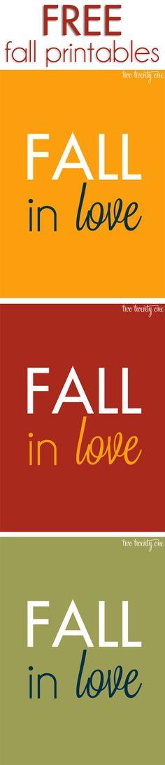 FREE fall printables!