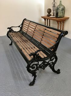 18 best cast iron bench images garden seating iron benches rh pinterest com