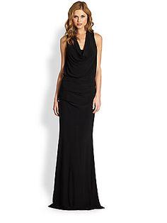 ***Nicole Miller Matte Jersey Gown