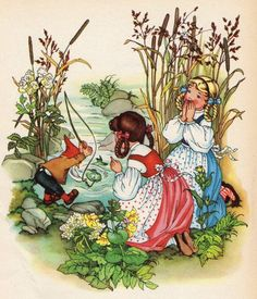 Snow White & Rose Red 2 - As a large fish swallowed the bait, the gnome almost fell into the water, Felicitas Kuhn-Klapschy