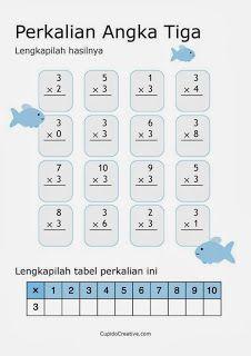 belajar anak perkalian angka 3