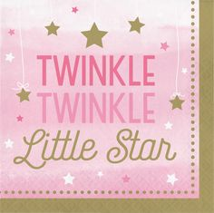 One Little Star Girl Luncheon Napkin, Twinkle (192/case)