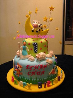 Jcakehomemade: Nursery rhymes birthday cake