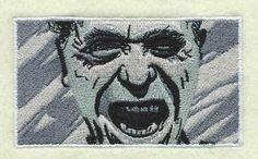 embroidery - Screaming Charles Bukowski!! Yes!