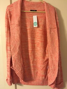 APRIL 2015: Papermoon - Jerrard Heathered Open Front Cardigan... I love the color and style. However, I was looking for a light-weight sweater. This is a heavy winter-ish sweater. *Returned*